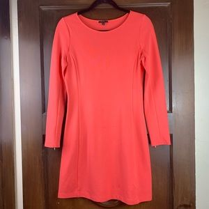 Theory Kalion Pryor Long Sleeve Dress Coral Pink M